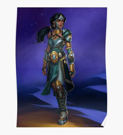 Armored Princess Jasmine Poster