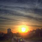Tendring Road Sunrise by Nigel Bangert
