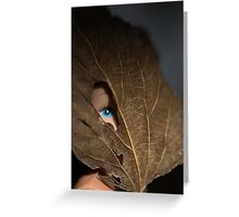 Blue eyed nature girl Greeting Card