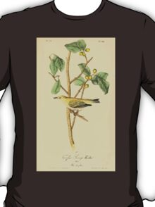 James Audubon Vector Rebuild - The Birds of America - From Drawings Made in the United States and Their Territories V 1-7 1840 - Tennesee Swamp Warbler T-Shirt