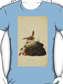 James Audubon Vector Rebuild - The Birds of America - From Drawings Made in the United States and Their Territories V 1-7 1840 - Wood Wren T-Shirt