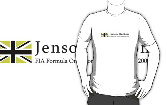 Jenson Button white t-shirt by Jonathan Carre