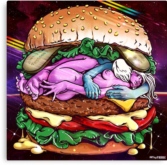 Cosmic Sex Burger With Cheese by franx