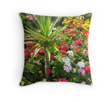 The fine art of municipal bedding in Swanage, south coast of England Throw Pillow