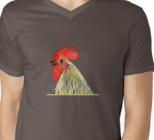 Lemon Blue Old English Game Cockerel Mens V-Neck T-Shirt