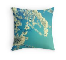 White Blossom Throw Pillow