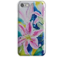 Still life Lilies in watercolor iPhone Case/Skin
