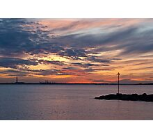 Lee-on-the-Solent Sunset Photographic Print