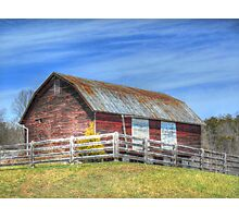 Barn With White Doors Photographic Print