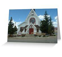 Church in Leadville, Colorado Greeting Card