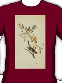 James Audubon Vector Rebuild - The Birds of America - From Drawings Made in the United States and Their Territories V 1-7 1840 - Canada Bunting or Tree Sparrow T-Shirt