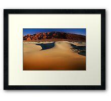 Sunset at Death Valley Framed Print