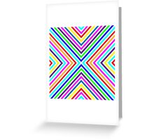 Varicolored squares, lines.  Greeting Card