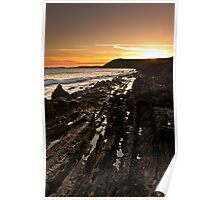 Strata Sea Sunsets Poster