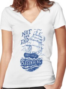 Beginning Women's Fitted V-Neck T-Shirt