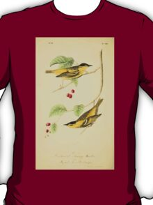 James Audubon Vector Rebuild - The Birds of America - From Drawings Made in the United States and Their Territories V 1-7 1840 - Carbonated Swamp Warbler T-Shirt