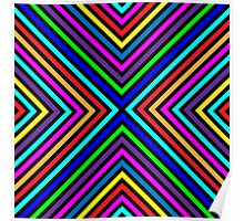 Varicolored squares, lines.  Poster