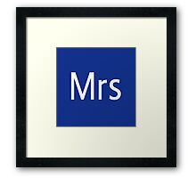 Mrs Adobe Photoshop Themed Framed Print