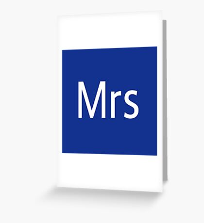 Mrs Adobe Photoshop Themed Greeting Card