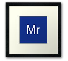 Mr & Mrs Adobe Themed Framed Print