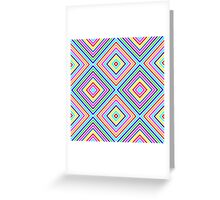 Varicolored squares, lines Greeting Card