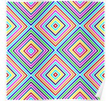 Varicolored squares, lines Poster