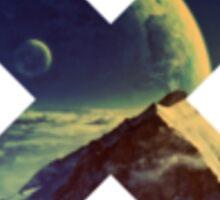 Double-Moon Mountain Sticker
