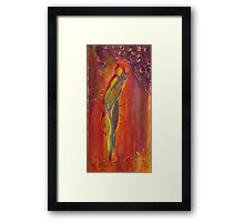 Rebecca in Red Framed Print