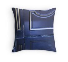 2100 Blue Street Throw Pillow