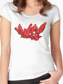Red Mutate Women's Fitted Scoop T-Shirt