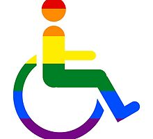 Gay lesbian disabled wheelchair pride flag by muchape