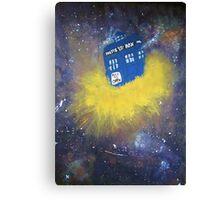 Blue Police Box  Canvas Print