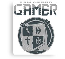I am an RPG Gamer Tee Canvas Print