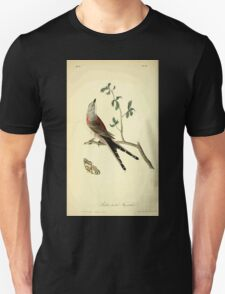 James Audubon Vector Rebuild - The Birds of America - From Drawings Made in the United States and Their Territories V 1-7 1840 - Swallow Tailed Flycatcher T-Shirt