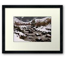Below the Snowfields. Framed Print