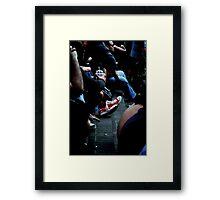 red kicks Framed Print