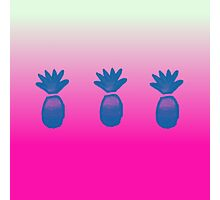 Pink Blue Pineapple Photographic Print