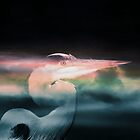 Heron with his Head in the Clouds by Darlene Lankford Honeycutt