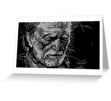 Willie Nelson in BW Greeting Card