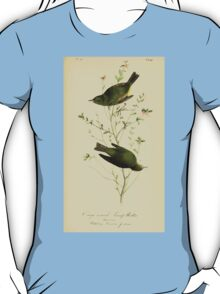 James Audubon Vector Rebuild - The Birds of America - From Drawings Made in the United States and Their Territories V 1-7 1840 - Orange Crowned Swamp Warbler T-Shirt
