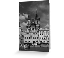 The Church of Our Lady before Teyn No. I Greeting Card