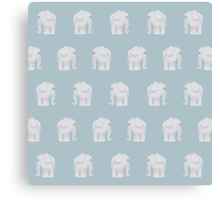 Elephants come in Pairs Canvas Print