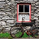Rural Ireland Cottage Bicycle Old Photograph by Noel Moore Up The Banner Photography