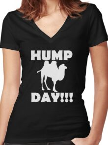 Hump Day!!! Women's Fitted V-Neck T-Shirt