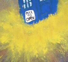 Blue Police Box  Sticker