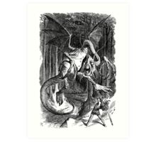 The Jabberwocky - Alice Through The Looking Glass / John Tenniel Art Print