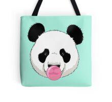 Panda and bubble gum Tote Bag