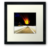 ENTERING LUX Framed Print