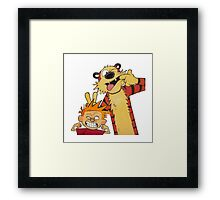 calvin and hobbes yuck Framed Print