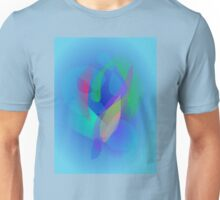 Light Blue Abstract Colors Unisex T-Shirt